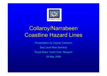 Collaroy/Narrabeen Coastline Hazard Lines - Pittwater Council