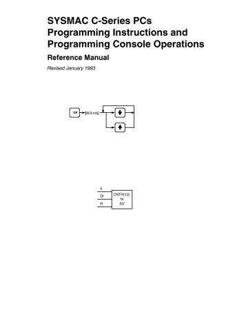 SYSMAC C-Series PCs Programming Instructions and ... - Omron