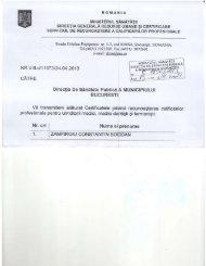 Certificatele privind recunoasterea calificarilor profesionale pentru ...
