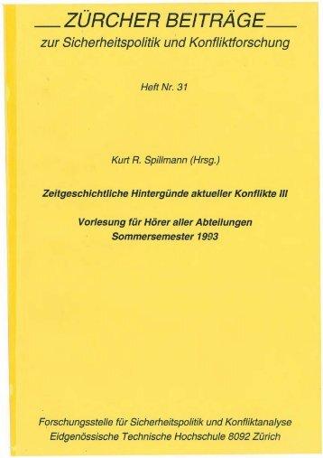 Deutsch (PDF) - Center for Security Studies (CSS) - ETH Zürich