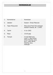 Kastam Diraja Malaysia 3. Tajuk Mesyuarat