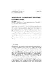 Investigations into graceful degradation of evolutionary ...