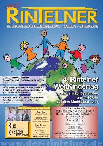 4. Rintelner WeltKindertag - Der Rintelner