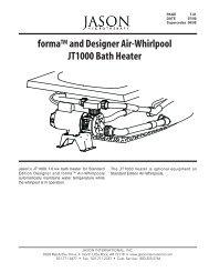 forma™ and Designer Air-Whirlpool JT1000 Bath Heater - Jason ...