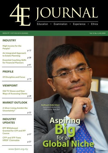 Vol 9, No 4 - Financial Planning Association of Malaysia
