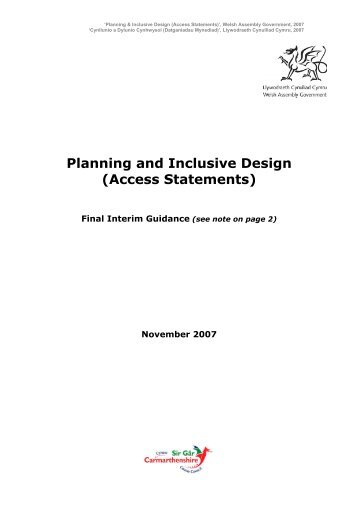 planning design and access statement design and access statement proposed change of use to car