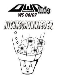 OWO-Info - WS06/07 - Fachbereich Mathematik - Technische ...