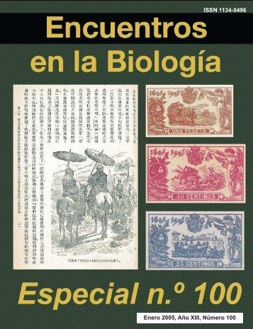 Enero 2005, Año XIII, Número 100 - Encuentros en la Biología