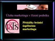 Úloha marketingu v řízení podniku I.