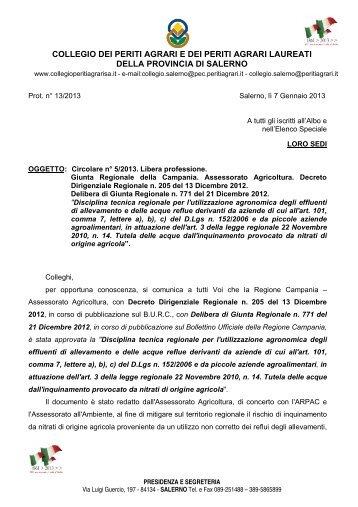 Circolare n. 5 del 7 Gennaio 2013.pdf - Collegio Provinciale di Salerno