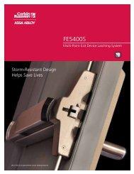 FE5400S Catalog - Corbin Russwin