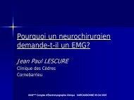 Pourquoi un neurochirurgien demande-t-il un EMG? - Société d ...