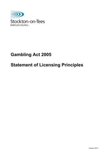 Gambling licensing act sports gambling links
