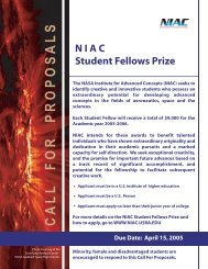 NIAC Student Fellows - NASA's Institute for Advanced Concepts