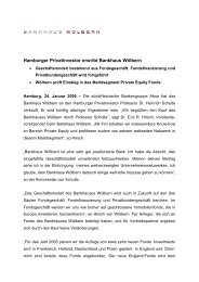 Hamburger Privatinvestor erwirbt Bankhaus Wölbern - Wölbern Invest