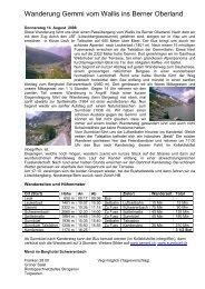 Wanderung Gemmi vom Wallis ins Berner Oberland