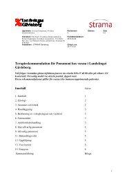 Terapirekommendation för Pneumoni hos vuxna i Landstinget ...