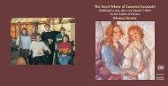 The Secret Music of Luzzasco Luzzaschi Musica Secreta - Chandos