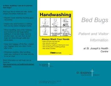 Bed Bugs - St. Joseph's Health Centre Toronto