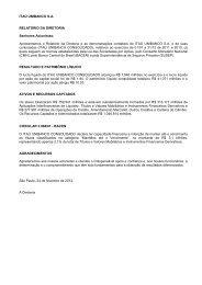 ITAÚ UNIBANCO S.A. RELATÓRIO DA DIRETORIA ... - Banco Itaú