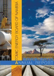 Atomic Energy Board of Namibia - The Chamber of Mines Uranium ...