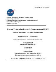Human Exploration Research Opportunities - National Space ...