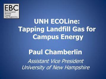 Paul Chamberlin UNH ECOLine - Environmental Business Council ...
