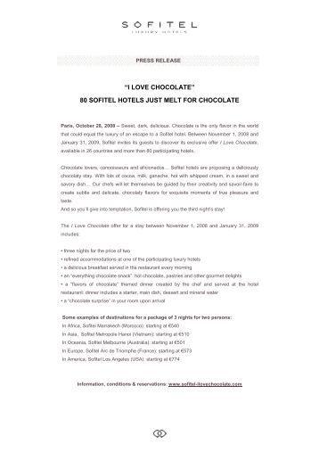 Press Release - I LOVE CHOCOLATE-US
