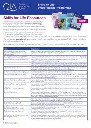 Skills for Life Resources - Skills for Life Improvement Programme