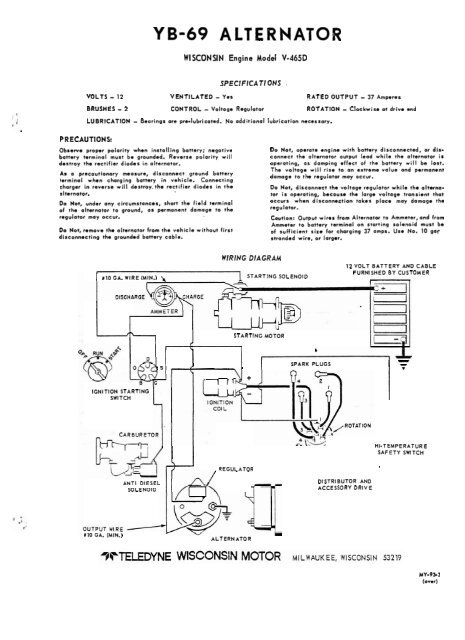 YB-69 ALTERNATOR - Winco Generators | Wisconsin Engine Wiring Diagram |  | Yumpu