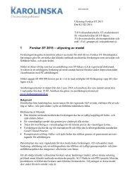Utlysning och anvisningar - SLL - Anslag till forskning, utveckling ...