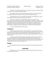 Board Regular Session 10/06/09 - Stokes County Schools