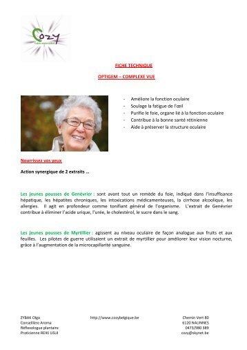 FICHE TECHNIQUE OPTIGEM – COMPLEXE VUE ... - COZY Belgique