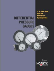 NOSHOK Differential Pressure Gauges