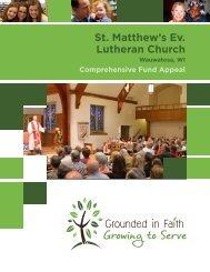 Comprehensive Fund Appeal Brochure - St. Matthew's Evangelical ...