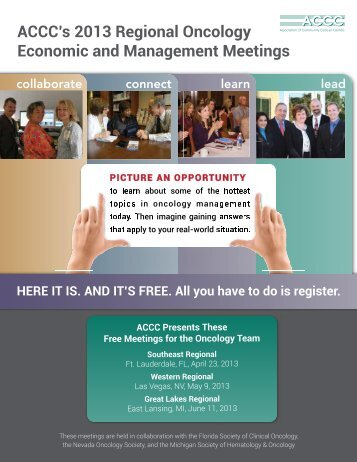 ACCC's 2013 Regional Oncology Economic and Management ...