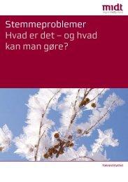 Stemmeproblemer Hvad er det - Region Midtjylland