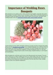 Importance of Wedding Roses Bouquets