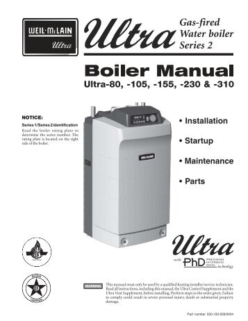 Gas-fired water boiler Ultra Interface Kit - Weil-McLain