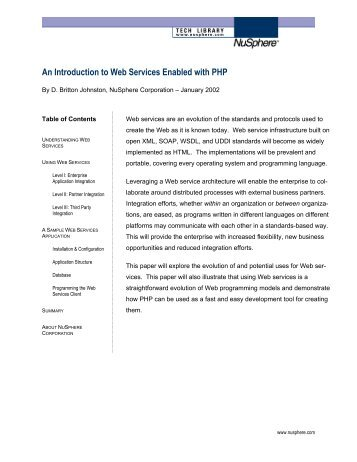 An Introduction to Web Services in PHP