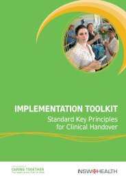 Implementation toolkit: Standard key principles for clinical ... - ARCHI