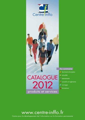Télécharger le catalogue - Centre Inffo