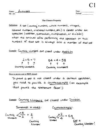 Closure Property - Worksheet C1 - Answers.pdf