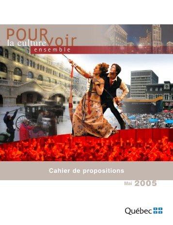 Pourvoir la culture ensemble - Ministère de la Culture et des ...
