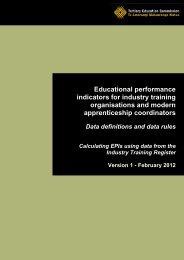 Educational performance indicators for industry training - Tertiary ...