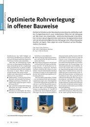 Optimierte Rohrverlegung in offener Bauweise - Klaus Stewering