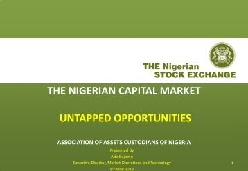 AACN - Capital Market - Untapped Opportunities 2013