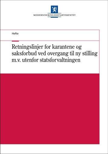 Retningslinjer for karantene og saksforbud ved ... - Regjeringen.no