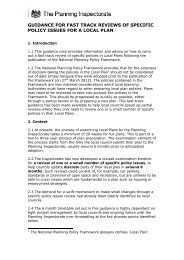 guidance for fast track reviews of specific policy ... - Planning Portal