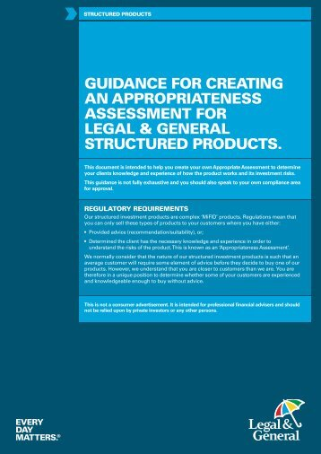 appropriateness assessment guide - Legal & General